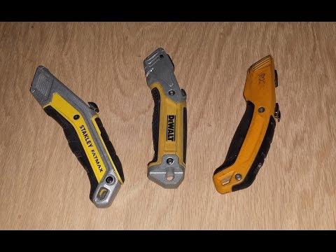 Utility Knives: Bostitch vs Dewalt vs Stanley Fat Max EXO
