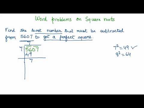 13 Word problems on square roots