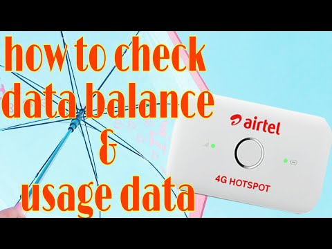 How to check data balance and usage data on airtel 4G Wi-Fi Dongle