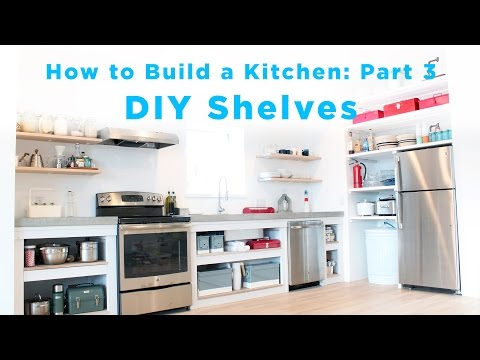 DIY Kitchen Shelves | Part 3 of the Total DIY Kitchen Series