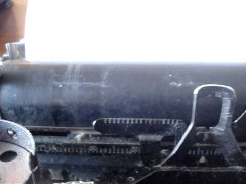 How to (un-professionally) temporarily restore a platen on a typewriter.
