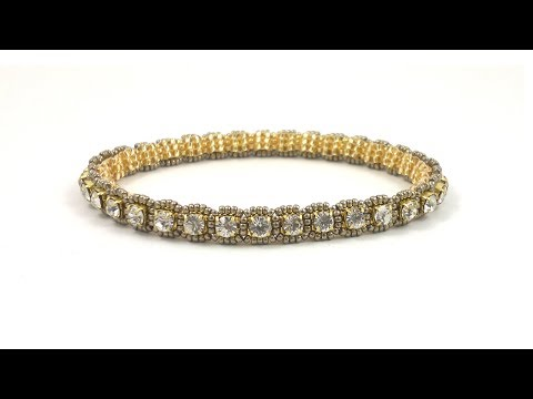 Beading4perfectionists : Roll on, Roll off..cupchain bangle bracelet beading tutorial