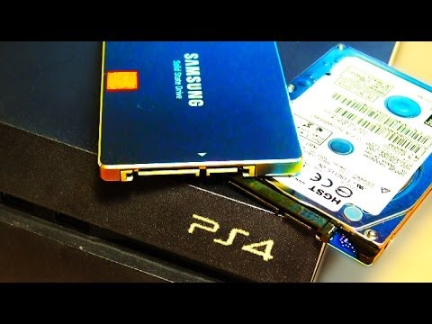 PS4 Hard Drive / SSD Upgrade / Update / Change Easily!