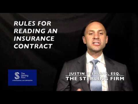 HOW TO READ AN INSURANCE CONTRACT?