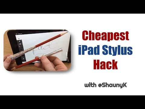 Cheapest iPad Stylus Hack - The foiled pencil