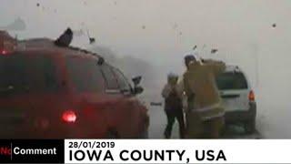 #x202b;آمریکا؛ رانندگی دیوانهوار باعث زخمی شدن معاون پلیس آیووا شد…#x202c;lrm;