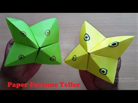 How to make Paper Fortune Teller - Easy Origami Fortune Teller Making