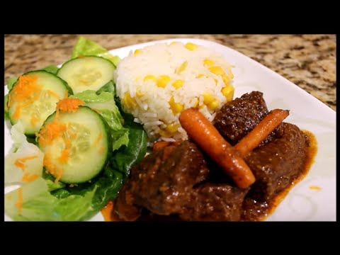 How to make Spanish style beef stew. Carne guisada.