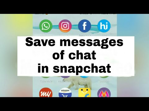 How To easily save message in chat of snapchat app by Android without hacks