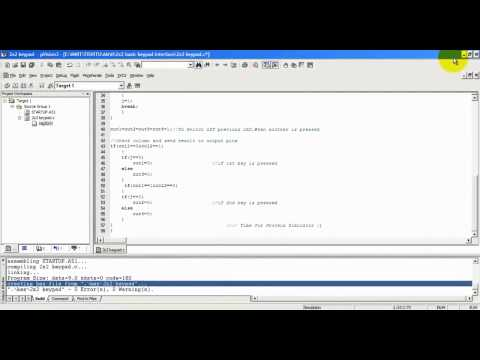 Part 1/2- Basic Keypad Interface by 8051 microcontroller in Proteus _ Keil Compiler - YouTube.MP4
