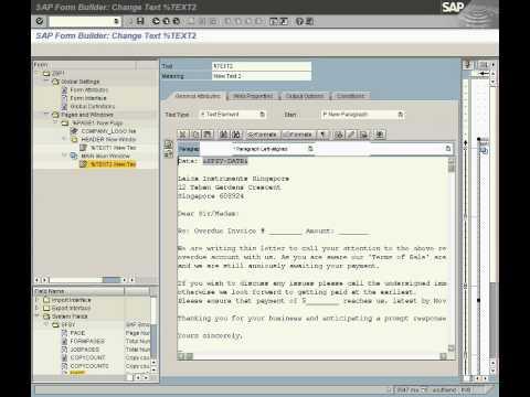 SAP ABAP Smartform Basic Demo