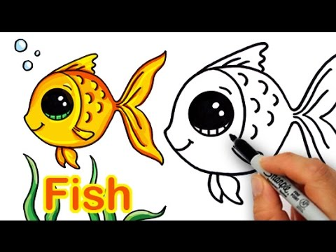 How to Draw a Cartoon Fish Cute and Easy