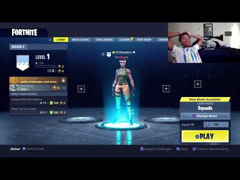 FORTNITE NOOB PLAYS FOR THE FIRST TIME!!! (EASY DUBS)