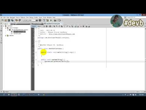 How to create project and  pass arguments in main method in netbeans