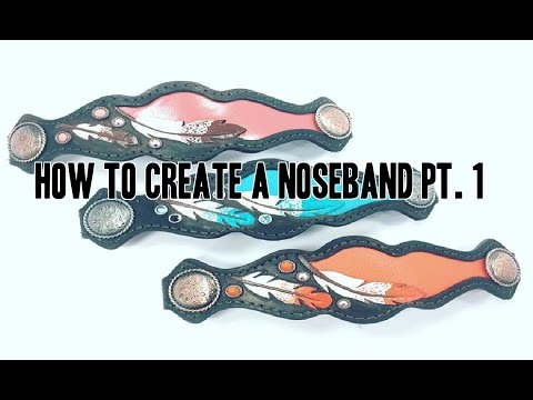 How to make a noseband pt.1 | Leather working tips | Crimson Willow
