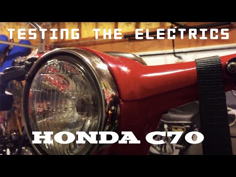1981 Honda C70 Passport (04) - Testing the electrics