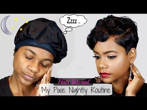 My Pixie Nightly Routine | Layered Pixie Cut Style | Relaxed Short Hair | Hair Tutorial|Leann DuBois