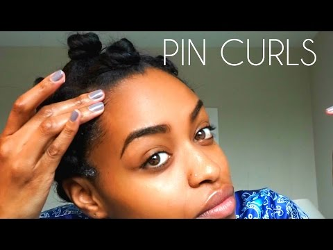 Heatless Curls: How to PIN CURL Medium Length Natural Hair