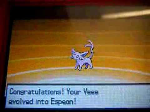 Pokemon Black/White -Eevee evolving into Espeon