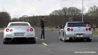 Nissan Skyline GT R34 Mines Stage 2 +++ vs Nissan GT-R Switzer P800