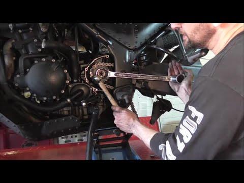Delboy's Garage, Motorcycle Front Sprocket Change.