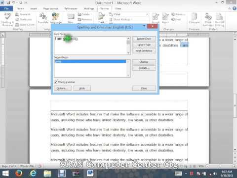 Microsoft Word Bangla Tutorials | Spelling And Grammar