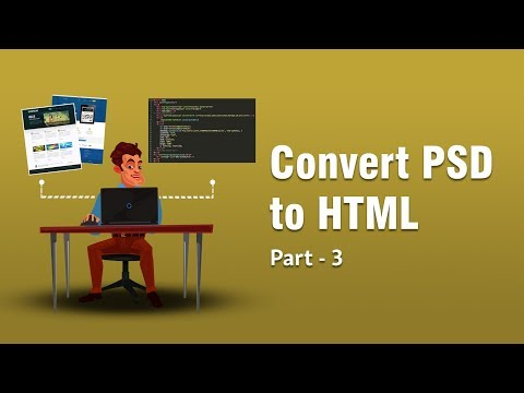 Converting PSD TO HTML | Fetching Margin And Padding From Photoshop | Part 3 | Eduonix