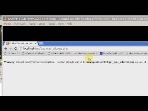 XAMPP1.6.8 (PHP5.2.6) - Cannot modify header information - headers already sent when using system()