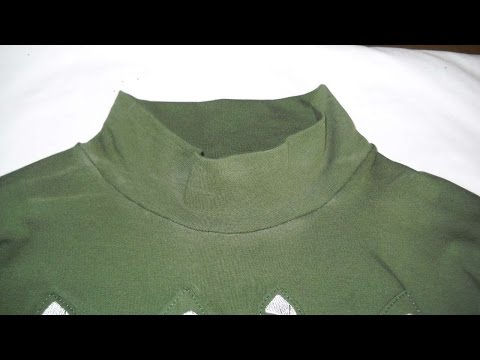 How To Shorten The Neck Of A Turtleneck T-Shirt - DIY Style Tutorial - Guidecentral