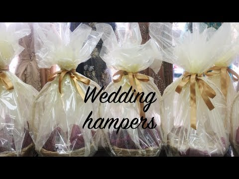 DIY WEDDING GIFT BASKET | HOW TO MAKE HAMPERS