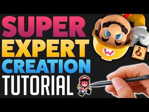 Super Mario Maker - Create a SUPER EXPERT Level! [TUTORIAL]