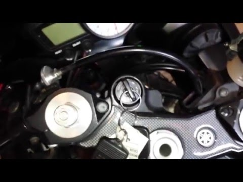 Disassembly of Motorcycle Turn Signal Switch