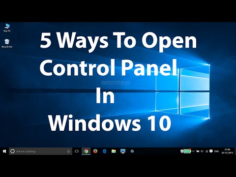 5 Ways To Open Control Panel in Windows 10