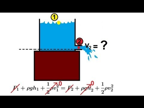 Physics Fluid Flow (4 of 7) Bernoulli's Equation
