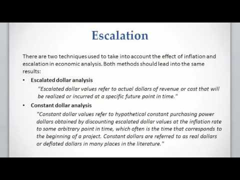 Lesson 5 video 1: Inflation, escalation, and escalated dollar analysis