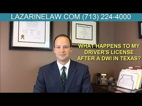 What Happens To My Drivers License After A DWI Arrest in Texas?