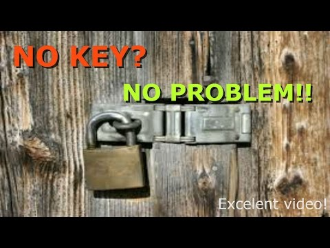 How to unlock a Padlock / lock  without Keys (Easy and Quick)