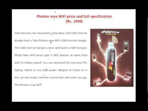 Tata Photon max Wifi feature, price and detail specification