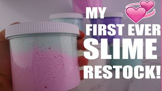 My first ever SLIME RESTOCK!! (FREE SLIMES)