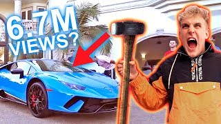 SMASHING MY LAMBORGHINI WINDSHIELD!!
