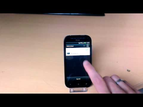 HTC One SV using DLNA streaming video to TV