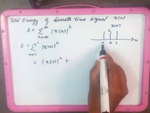 How to find total energy of discrete time signal