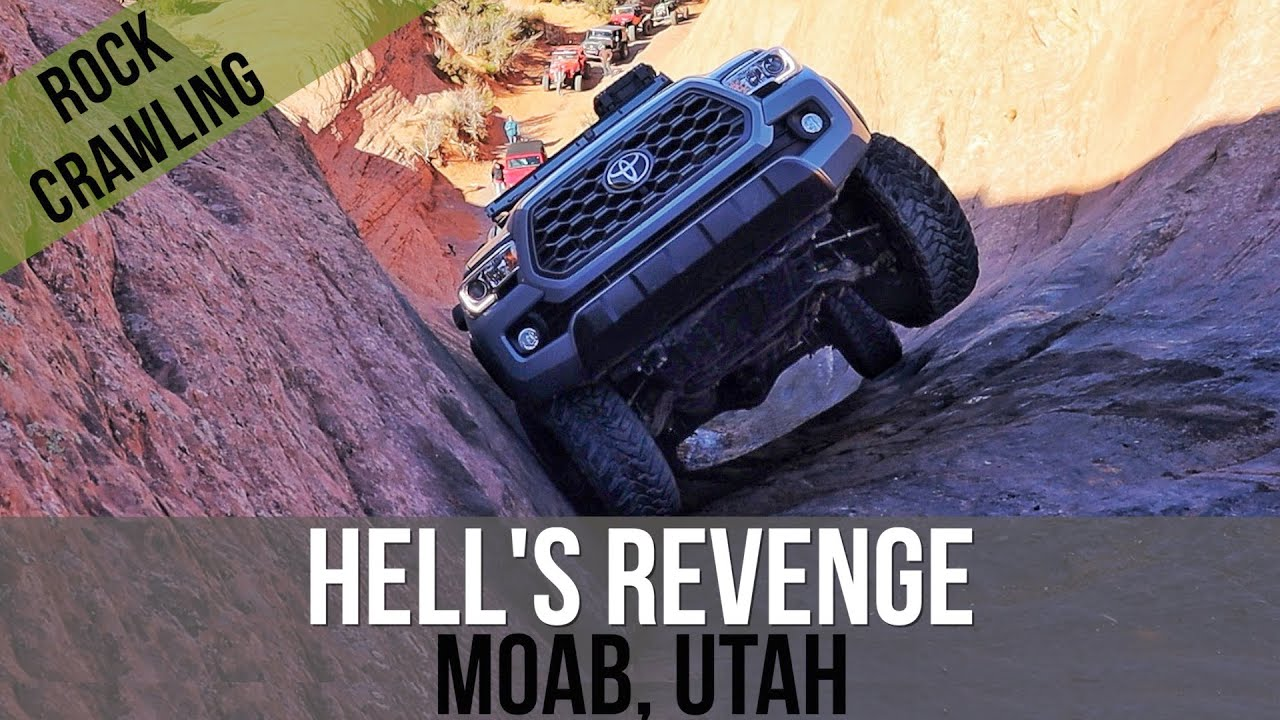 ALMOST ROLLED MY 2020 TACOMA OVERLAND RIG ON HELL'S GATE...HELL'S REVENGE, MOAB UTAH...TOYOTA'S RULE