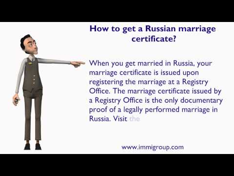 How to get a Russian marriage certificate?