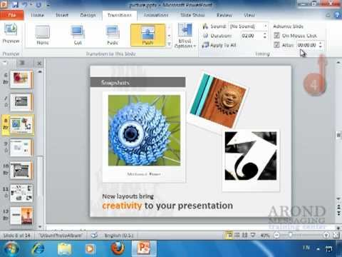 Using PowerPoint 2010 - Advance a Slide after a Set Time Interval