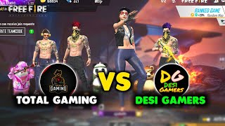 Free Fire Live Desi Gamer vs Total Gaming Final Round Match