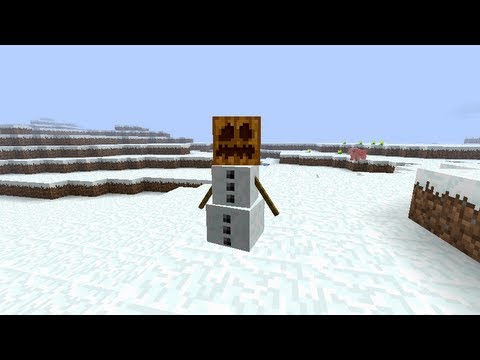 Minecraft - How to make a Snowman
