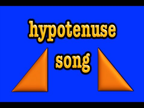 hypotenuse song- right triangles- pythagorean theorem-geometry