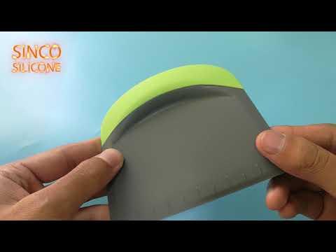 large silicone scraper / silicone rubber scraper - made by sinco