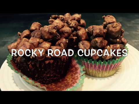 Rocky Road Cupcakes (simple and delicious recipe for beginners)